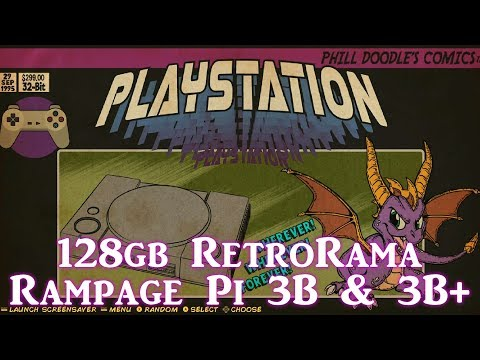 128gb RetroRama Rampage Retropie 4 4 - Fully Loaded