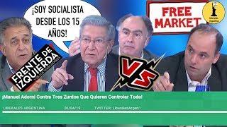 ¡Manuel Adorni Contra Tres Zurdos Que Quieren Controlar Y Estatizar Todo!