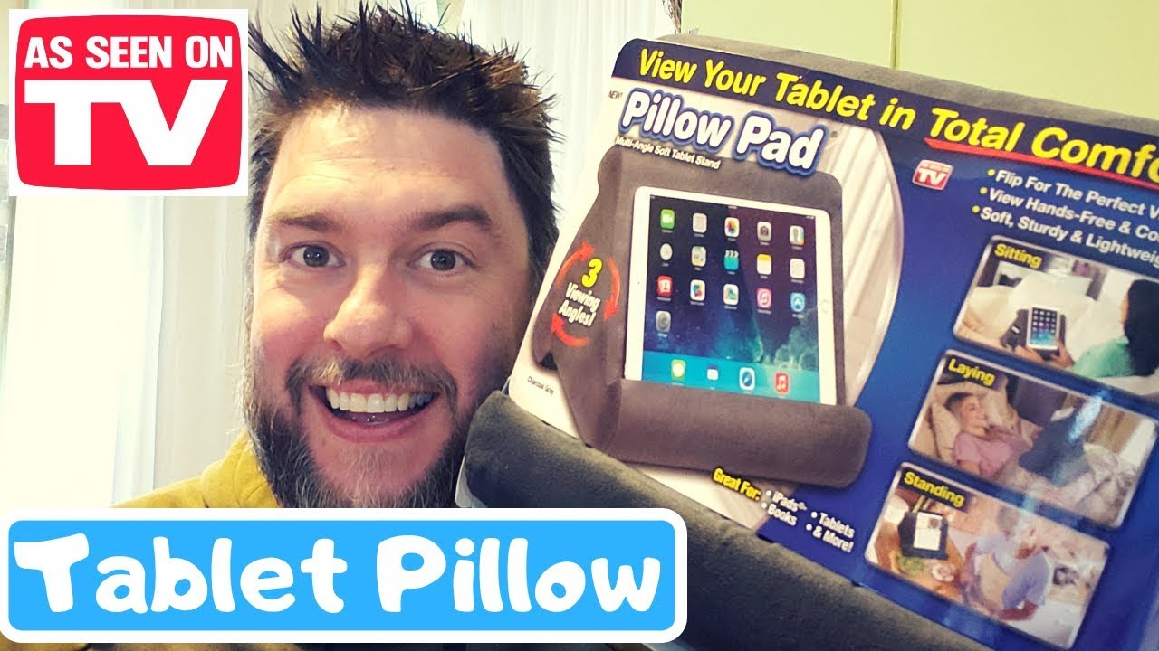 Pillow Pad Review As Seen On Tv Pillow Pad Tablet Holder Youtube