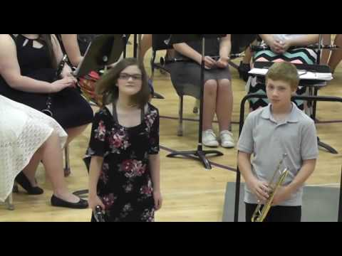 2017 Spring Concert -  Combined Bands - Darren Cordray - West County RIV