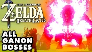 The Legend of Zelda: Breath of The Wild - All Ganon Bosses! Plus Master Kohga! (Nintendo Switch)