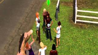 SIMS 3 GLITCH:  #1 Male aging up with female hair