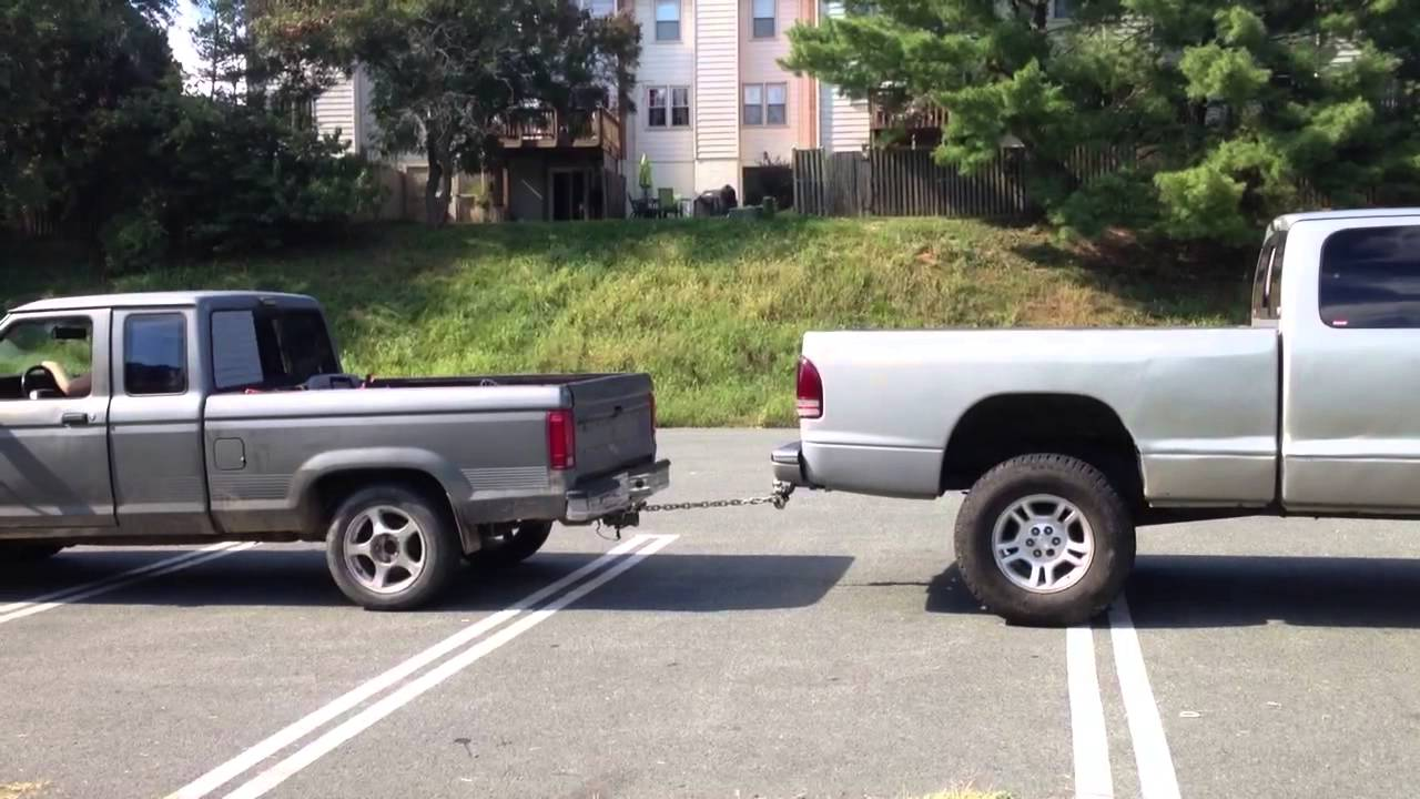 truck pull between 1992 ford ranger and 1997 dodge dakota