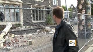 """""""Amazing Race"""" host visits quake-ravaged New Zealand"""
