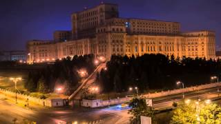 Palace of Parliament, Bucharest/ Romania, timelapse-cool view