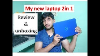 my new laptop dell inspiron 11 2 in 1 model 3169 blue 3000 serise review and unboxing