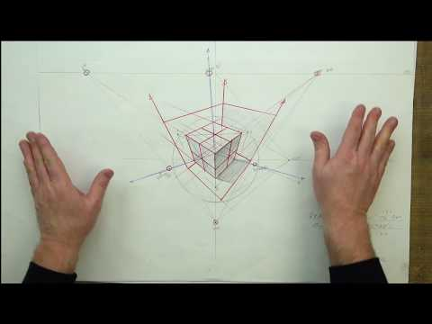 FORMAL LINEAR PERSPECTIVE: SECTION FIVE-45 Degree Measuring PT's in 3PT Perspective EX #44