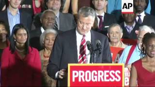 De Blasio praises his Italian roots as he becomes first Democrat mayor of NY since the 1980s