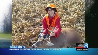 Kent Co. woman attacked by buck: 'I was in a bad way'
