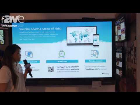 InfoComm 2017: BenQ Demos RP750K Interactive Flat Panel