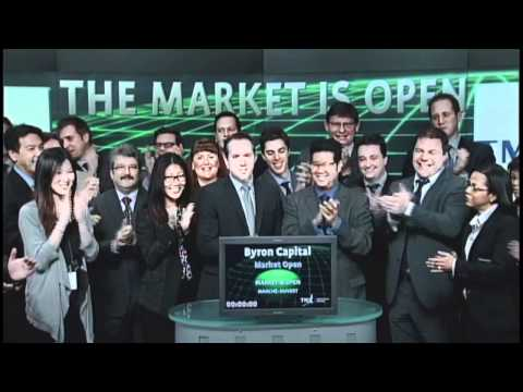 Byron Capital Markets Ltd. opens Toronto Stock Exchange, March 13, 2012.