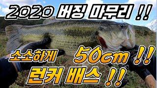 2020 버징 낚시 런커로 마무리 !! 프로그 버징 런커 !! 50cm !!