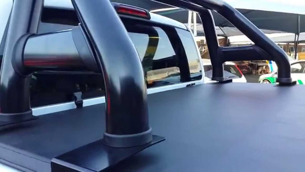 Tonneau King Ford Ranger D C With Roll Bar Youtube