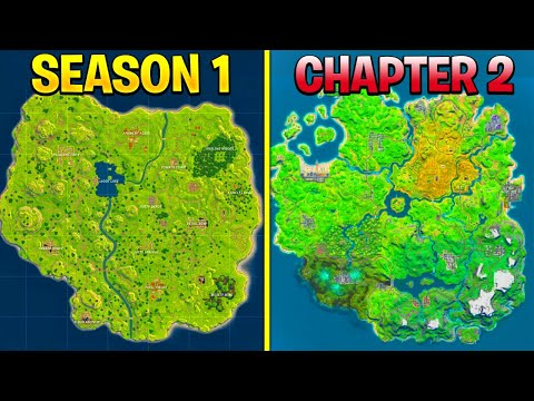 All Map Changes From Chapter 1 - Chapter2! (Evolution Of The Fortnite Island)