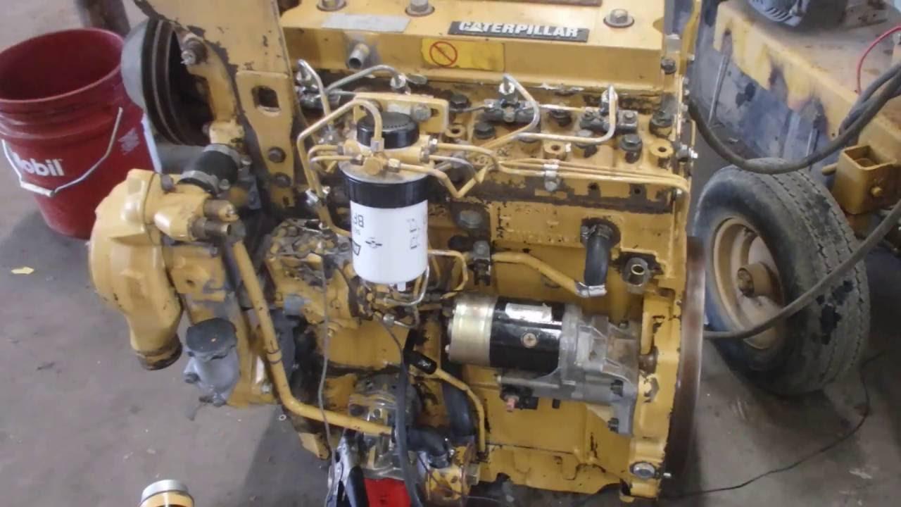 motor caterpilar 3054 youtube rh youtube com Cat 3054 Motor 3054C Cat Engine Parts