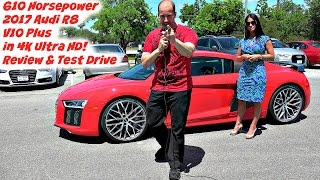 The New 2017 Audi R8 V10 Plus 610 Horsepower - Test Drive, Walkaround, and Review in 4K Ultra HD!