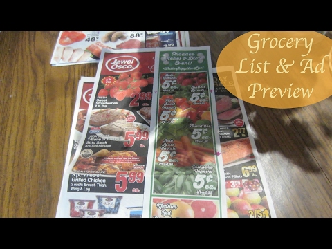 Grocery List & Ad Preview 2/15/17 ~ Jewel-Osco, Caputo's, Valli Produce, & Aldi