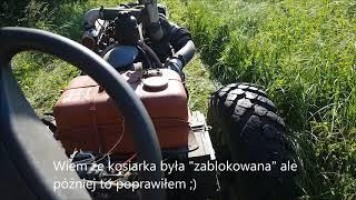 Koszenie łąki 2019 !! WTOPA :D SAM 4x4 z kosiarką rotacyjną !