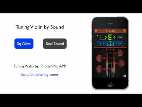 Video - Violin Reference Tuning Sound - A440 open string G D A E
