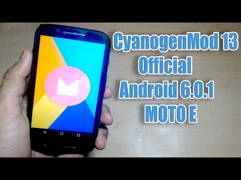 How to Install CyanogenMod 13 Official in Moto E - YouTube