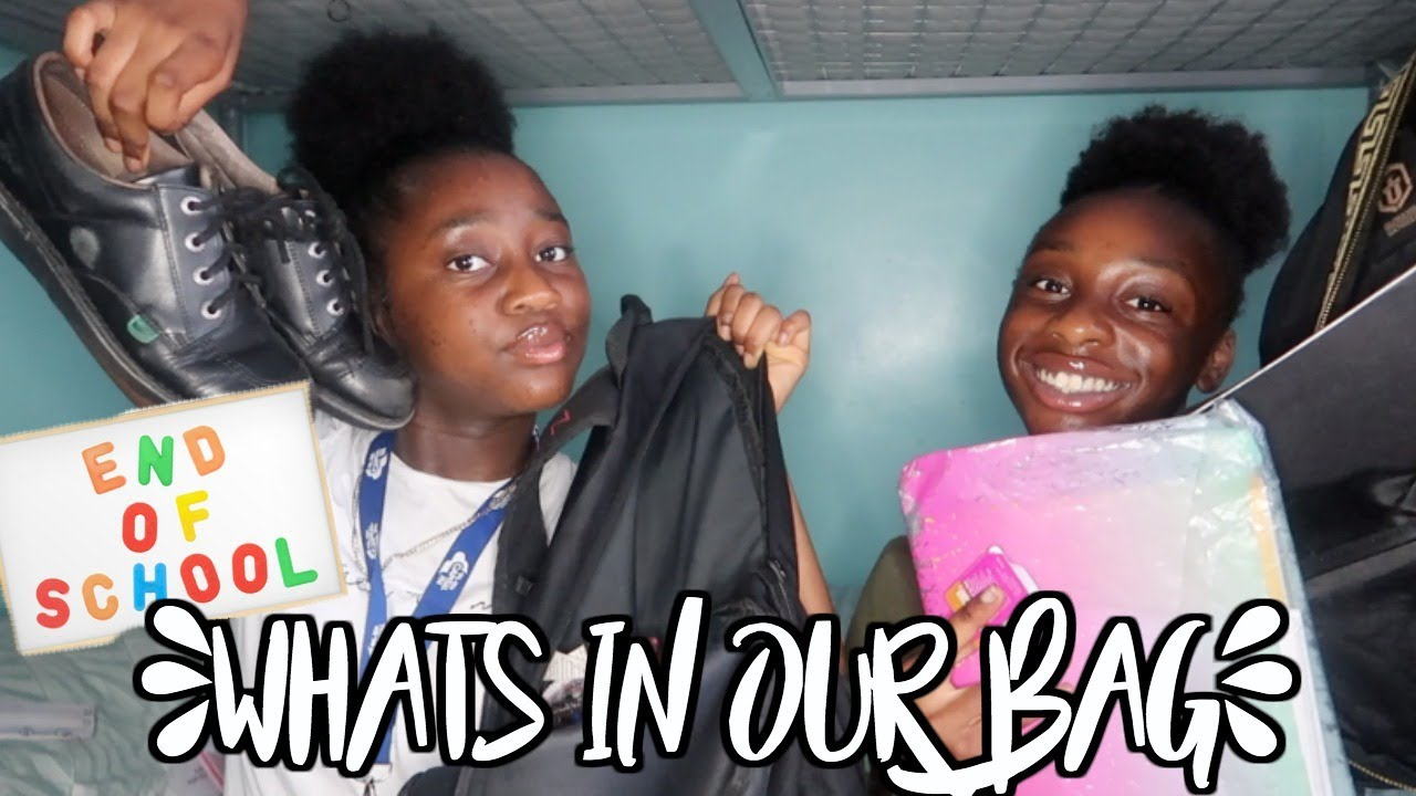 WHATS IN OUR SCHOOL BAG? END OF YEAR EDITION!