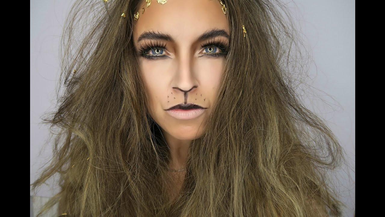 LION MAKEUP TUTORIAL | Halloween week| ROARRRRR - YouTube