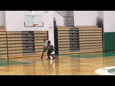 Boston Celtics youngsters Jaylen Brown, Jordan Mickey play 1-on-1