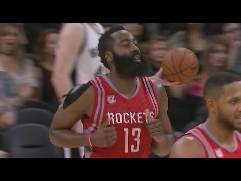 James Harden Triple Double! Houston Rockets vs San Antonio Spurs 11-10-2016