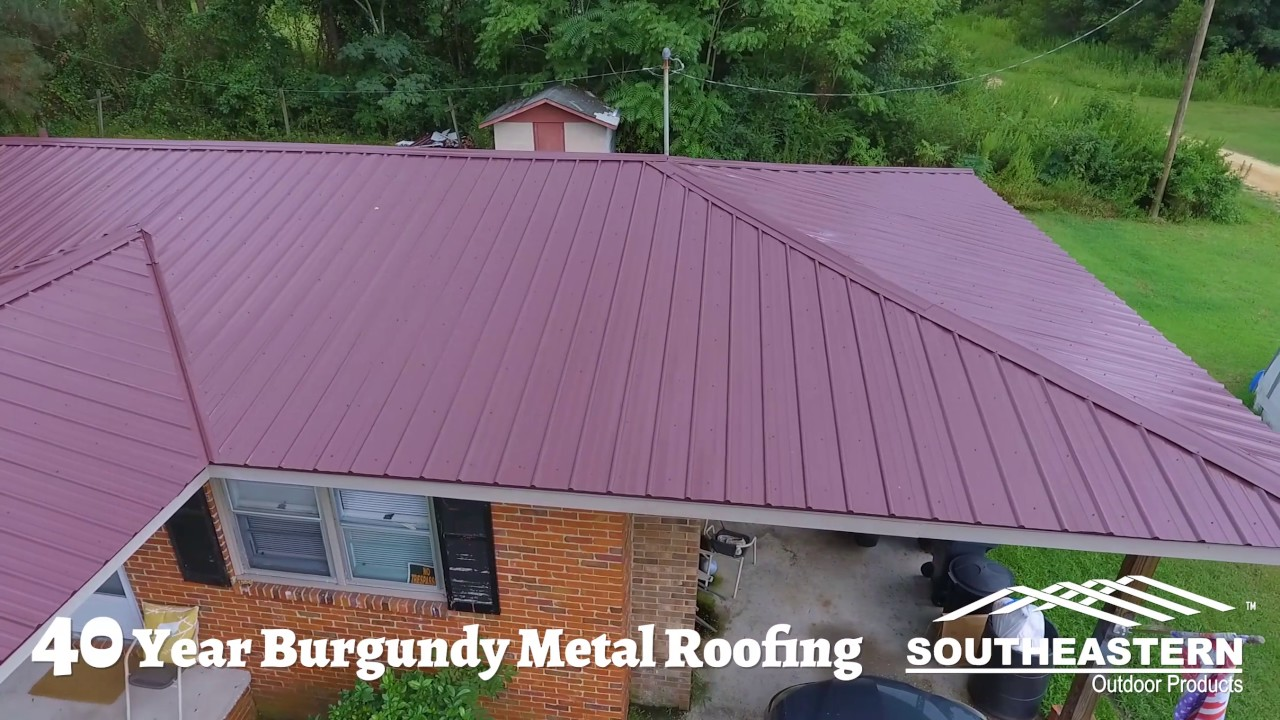 40 Year Burgundy Metal Roofing Youtube