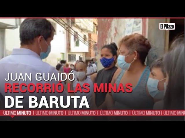 Guaidó recorrió Las Minas de Baruta para promover el Acuerdo de Salvación Nacional