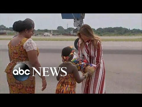 Melania Trump travels solo to Africa