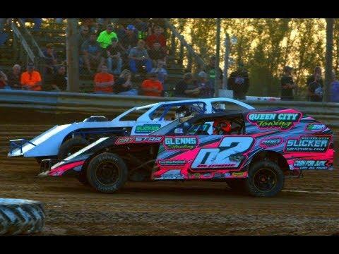 9-3-2017 35 Raceway Park Modifieds Feature Race - Josh Tonkin wins, Keith Bills 2nd