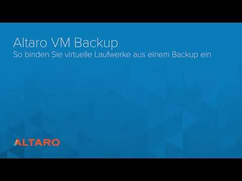 Altaro VM Backup: So binden Sie virtuelle Laufwerke aus einem Backup ein