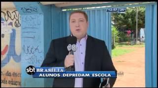 Alunos vandalizam escola em Valparaíso de Goiás