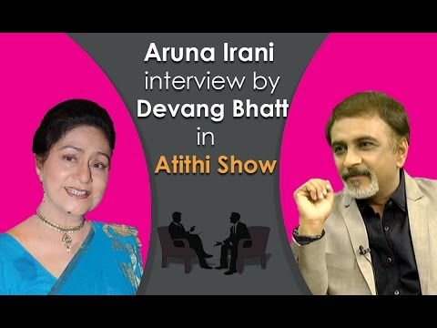 Best Bollywood Indian Actress Aruna Irani Interview by Devang Bhatt