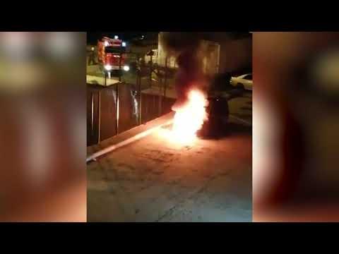 В Невельске сгорел автомобиль