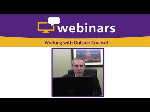 Working with Outside Counsel
