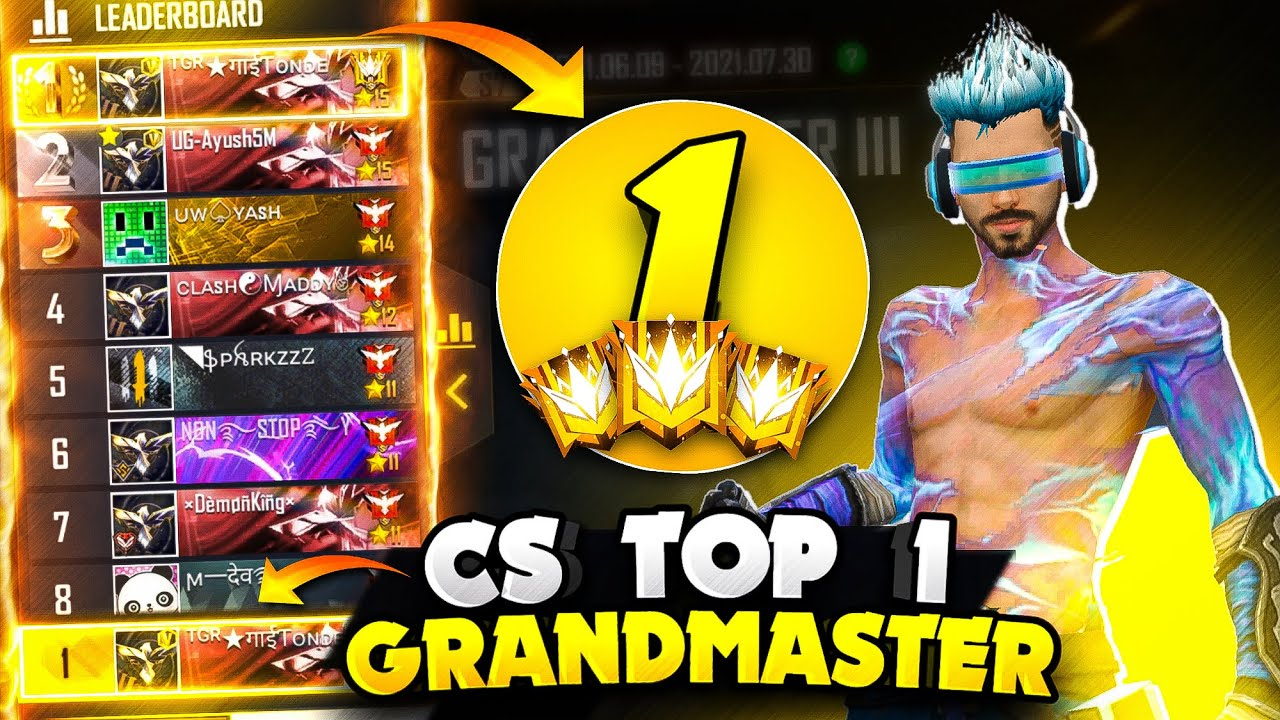 Top 1 Grandmaster in Clash Squad Ranked in just 15 Hours - Garena Free Fire