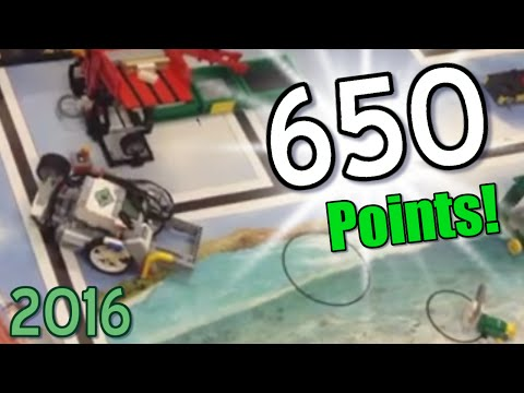 (First Lego League 2016) Our final robot (650 POINTS)