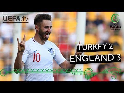 #U19EURO highlights: Turkey 2-3 England
