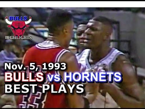 November 05 1993 Bulls vs Hornets highlights