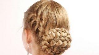 Frisuren mit Zöpfen für langes mittlere Haar