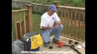 sanding a deck surface for best wood coating performance