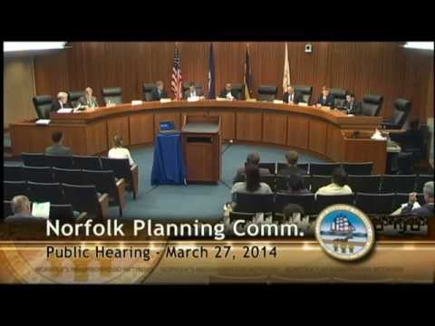 03/27/14 Norfolk Planning Commission Public Hearing