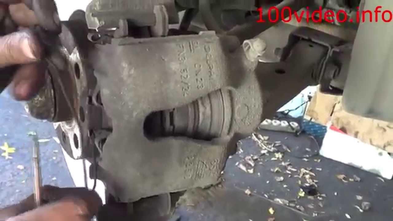 Замена тормозных колодок опель зафира