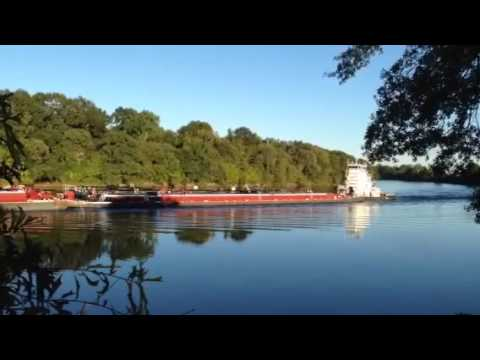 Barge on the Ouachita River