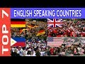 TOP 7 English Speaking Countries in the World 2017