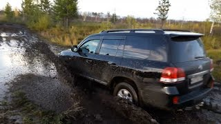 Офигеть! Lexus и Land Cruiser 200 по грязи