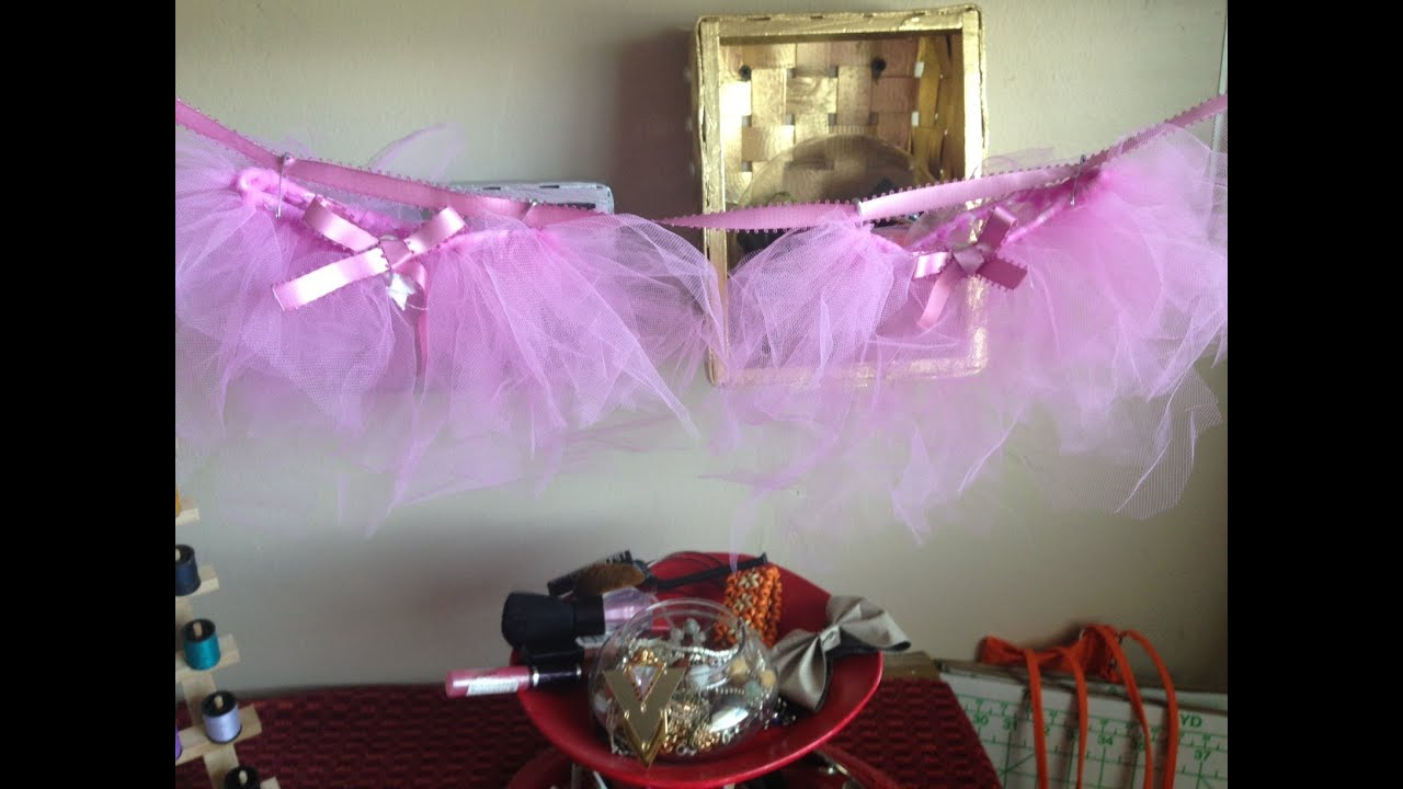 diy baby shower tutu decor youtube