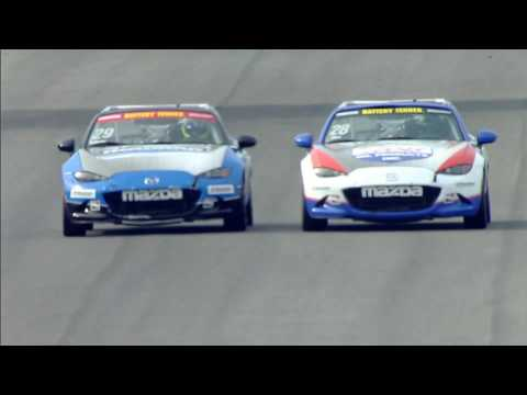 Global MX-5 Cup 2017. Race 1 Indianapolis Motor Speedway. Battle for Win